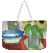 Sunflowers And Blue Bowls Weekender Tote Bag