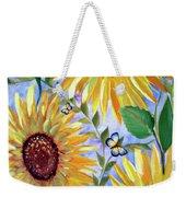 Sunflowers And Butterflies Weekender Tote Bag