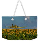 Sunflowers And Crop Duster Weekender Tote Bag