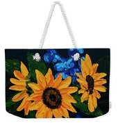 Sunflowers And Delphinium Weekender Tote Bag