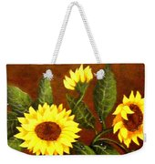Sunflowers And Dewdrops Weekender Tote Bag