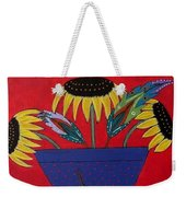 Sunflowers And Feathers Weekender Tote Bag