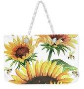 Sunflowers And Honey Bees Weekender Tote Bag