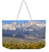 2a6742-sunflowers And Mount Humphreys  Weekender Tote Bag