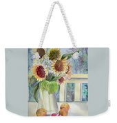 Sunflowers And Peaches Weekender Tote Bag