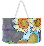 Sunflowers And Pears Weekender Tote Bag by Loretta Nash