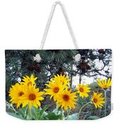 Sunflowers And Pine Cones Weekender Tote Bag by Will Borden