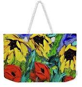 Sunflowers And Poppies - Little Treasures Series Weekender Tote Bag