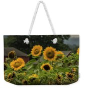 Sunflowers And Red Barn 2 Weekender Tote Bag