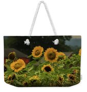 Sunflowers And Red Barn 3 Weekender Tote Bag