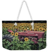 Sunflowers And Tractor Weekender Tote Bag