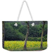 Sunflowers And Trees Growing Weekender Tote Bag