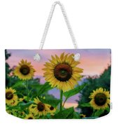 Sunflowers At Sunset Weekender Tote Bag