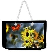 Sunflowers-butterfly-5233-fractal Weekender Tote Bag