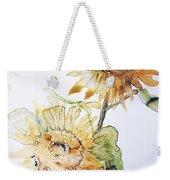 Sunflowers II Uncropped Weekender Tote Bag by Monique Faella