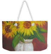 Sunflowers In A Clay Pot Weekender Tote Bag