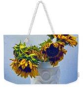 Sunflowers In Circle Vase Blue Tournesols Weekender Tote Bag