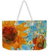Sunflowers In Fields Weekender Tote Bag