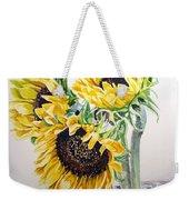 Sunflowers Weekender Tote Bag by Irina Sztukowski