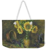 Sunflowers Weekender Tote Bag by Katalin Luczay