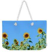 Sunflowers On Blue Weekender Tote Bag