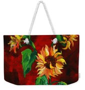 Sunflowers On Rojo Weekender Tote Bag