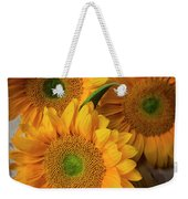 Sunflowers On White Boards Weekender Tote Bag