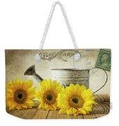 Sunflowers Postcard Weekender Tote Bag