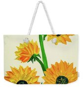 Sunflowers Using Palette Knife Weekender Tote Bag