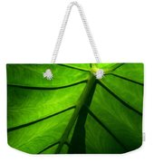 Sunglow Green Leaf Weekender Tote Bag