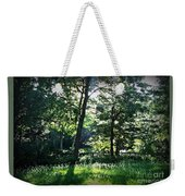 Sunlight Through Trees And Fence Weekender Tote Bag