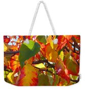 Sunlit Fall Leaves Weekender Tote Bag