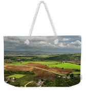 Sunlit Farms And Fields Below Arcos De La Frontera Andalusia Spa Weekender Tote Bag