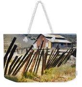Sunlit Fence Weekender Tote Bag