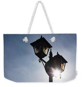 Sunlit Jewels - Stained Glass Lamps And Sunburst Right Weekender Tote Bag