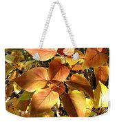 Sunlit Lilac Leaves Weekender Tote Bag