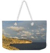 Sunlit Limestone Cliffs In Malta Weekender Tote Bag
