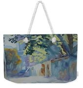Sunlit Wall Under A Tree Weekender Tote Bag