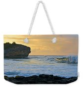 Sunlit Waves - Kauai Dawn Weekender Tote Bag