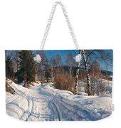 Sunlit Winter Landscape Weekender Tote Bag