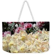 Sunlit Yellow Rhodies Art Print Creamy Rhododendrons Flowers Baslee Troutman Weekender Tote Bag
