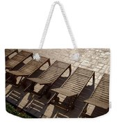 Sunning Chairs Weekender Tote Bag