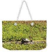 Sunning Turtle In Swamp Weekender Tote Bag