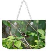 Sunning Zebra Longwing Butterfly Weekender Tote Bag