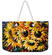 Sunny Bouquet Weekender Tote Bag