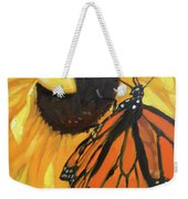 Sunny Butterfly Weekender Tote Bag