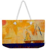 Sunny Day Sail Weekender Tote Bag