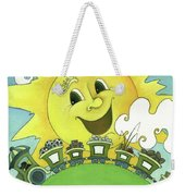 Sunny Day Train Weekender Tote Bag