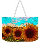 Sunny Faces- Sunflower Art Weekender Tote Bag