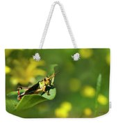 Green Grasshopper Weekender Tote Bag